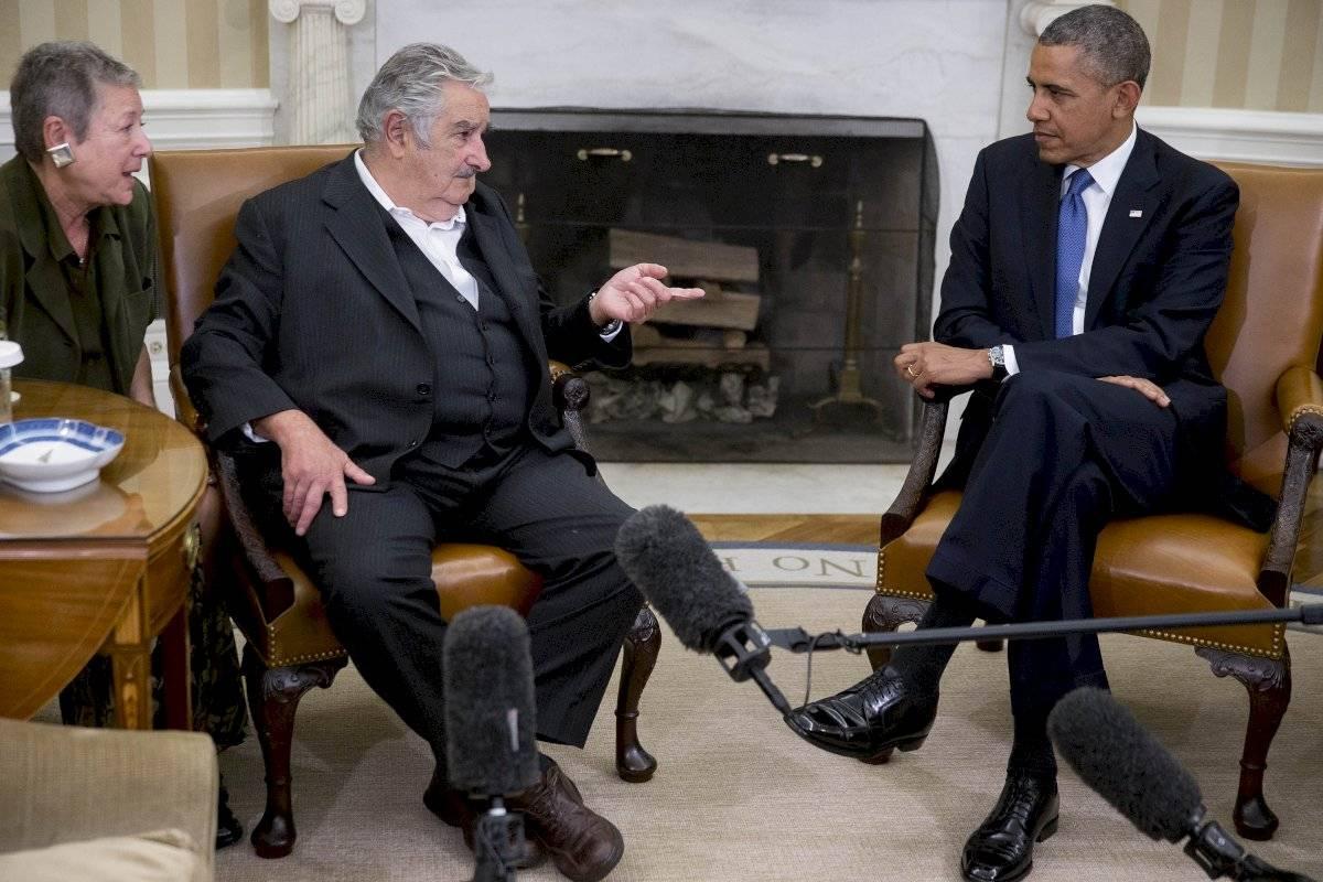 José Mujica en reunión con Barack Obama