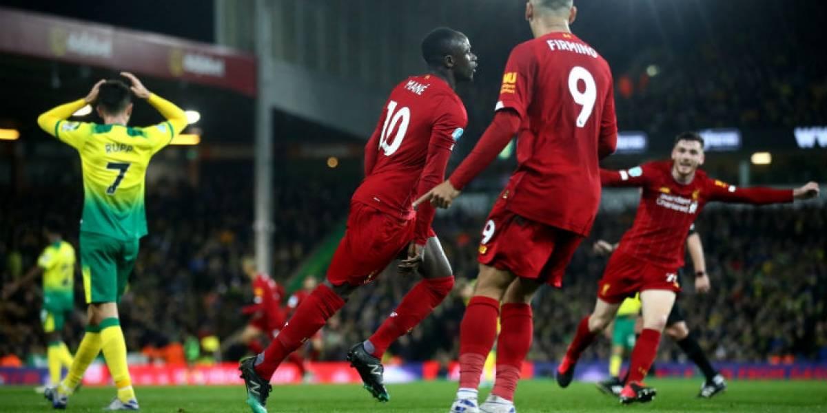 Norwich vs Liverpool: Los Reds, a seis juegos del récord invencible del Arsenal