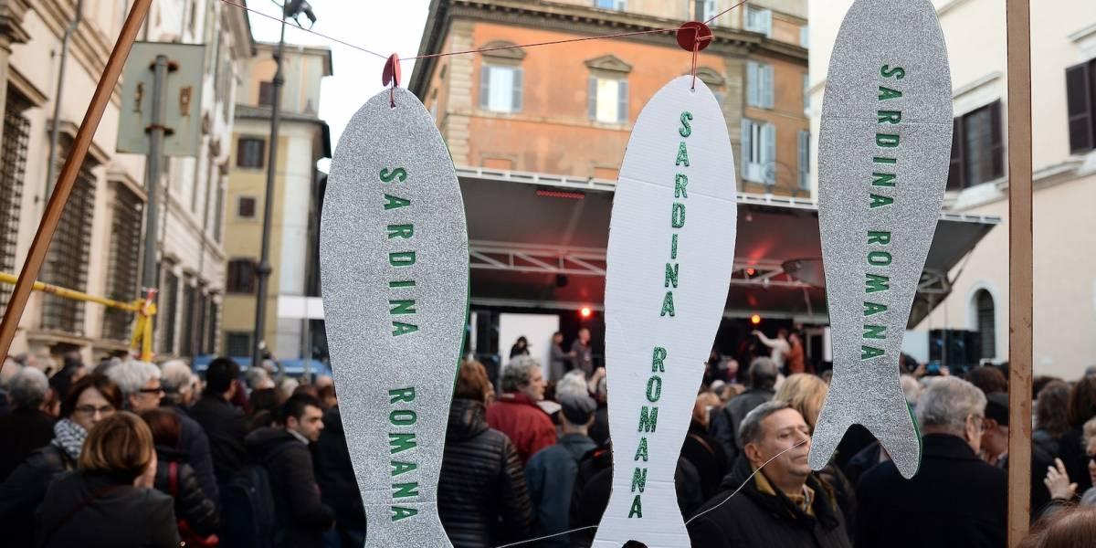 Se intensifica el movimiento de las 'sardinas' contra Salvini en Roma
