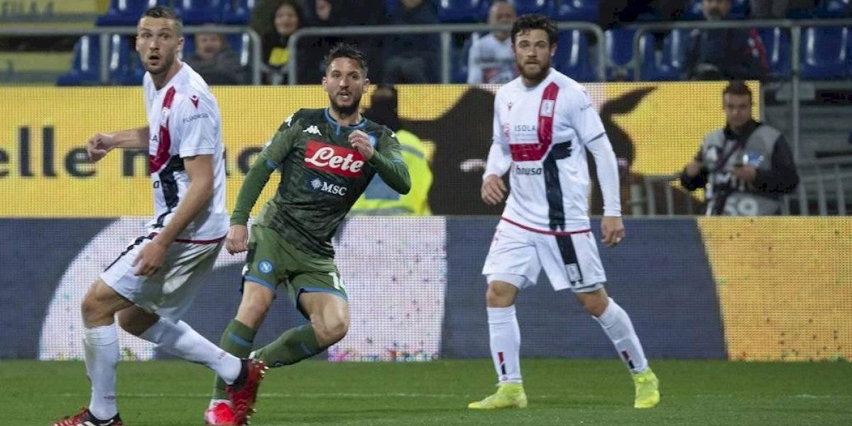 Napoli derrota al Cagliari y el Chucky Lozano sigue sin tener minutos