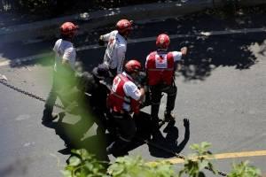 Accidente de un bus en El Salvador
