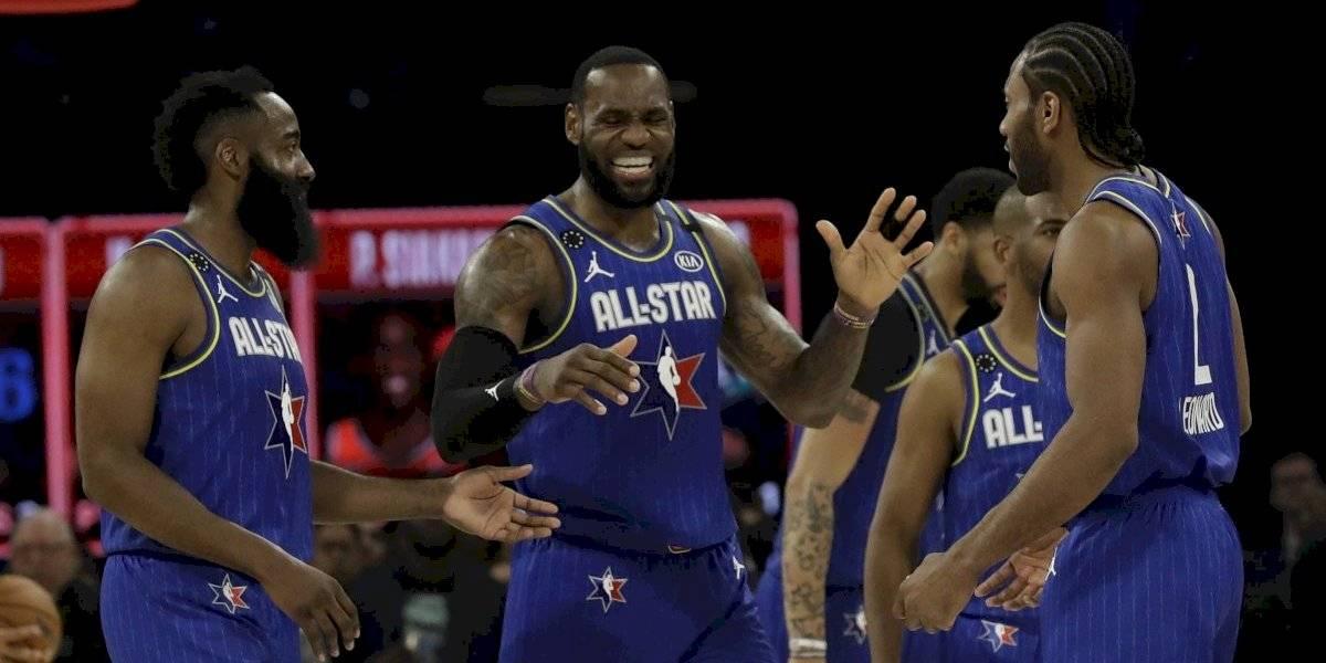 LeBron James y Kawhi Leonard se robaron las miradas en el All Star de Kobe Bryant