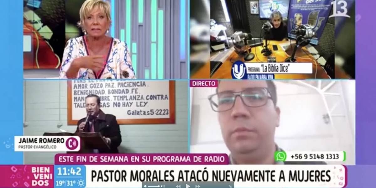 """Raquel Argandoña a pastor evangélico en """"Bienvenidos"""": """"No le tengo miedo"""""""
