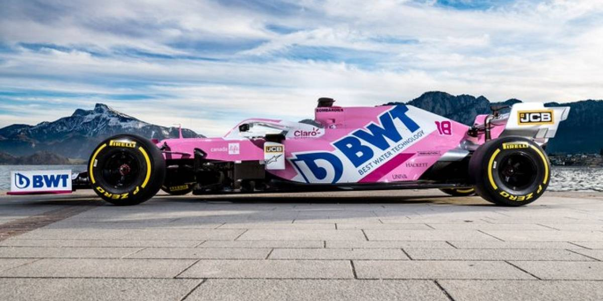 Racing Point presentó el nuevo coche del 'Checo' Pérez