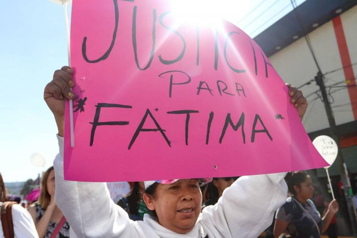 Marcha organizada para apoyar a Fátima que fue encontrada muerta dentro de una bolsa de basura.