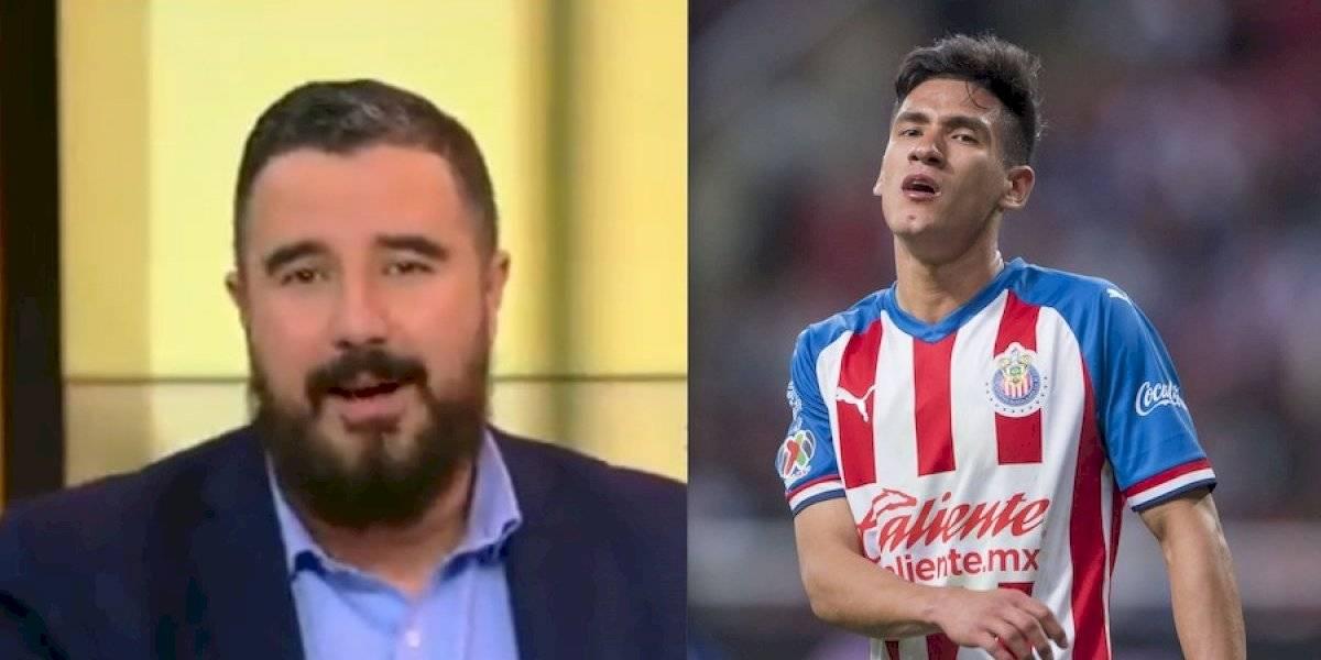 Álvaro Morales pide que se retire Uriel Antuna, el futbolista lo manda callar