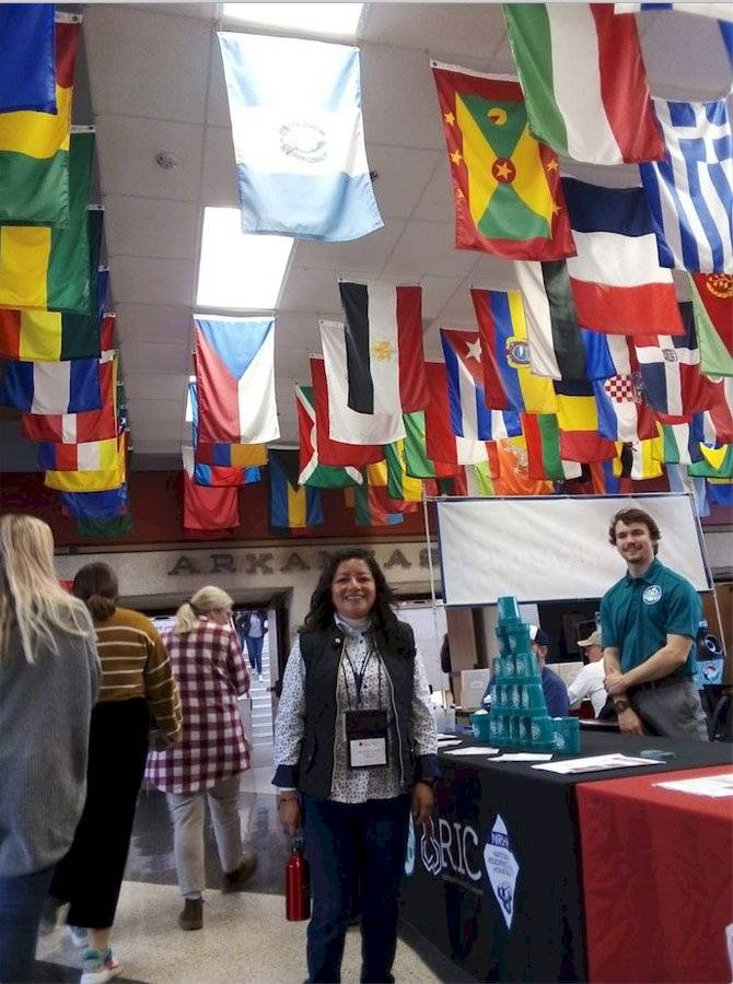 Yasmin Orozco, becaria Fulbright TEA 2019 durante su experiencia en EE. UU. Febrero, 2020