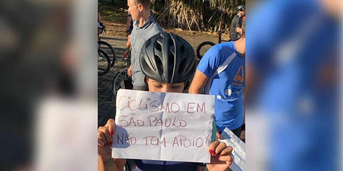 Ciclistas protestam contra restrição de horários de treinos na USP