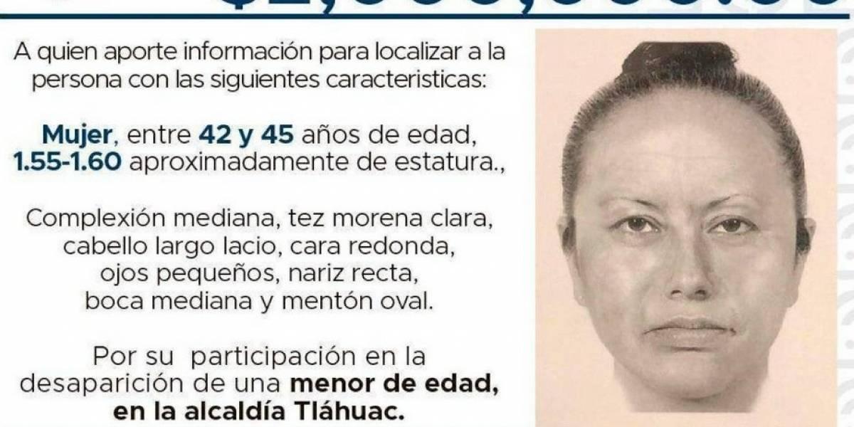 Difunden retrato hablado de la mujer que secuestró a niña en México