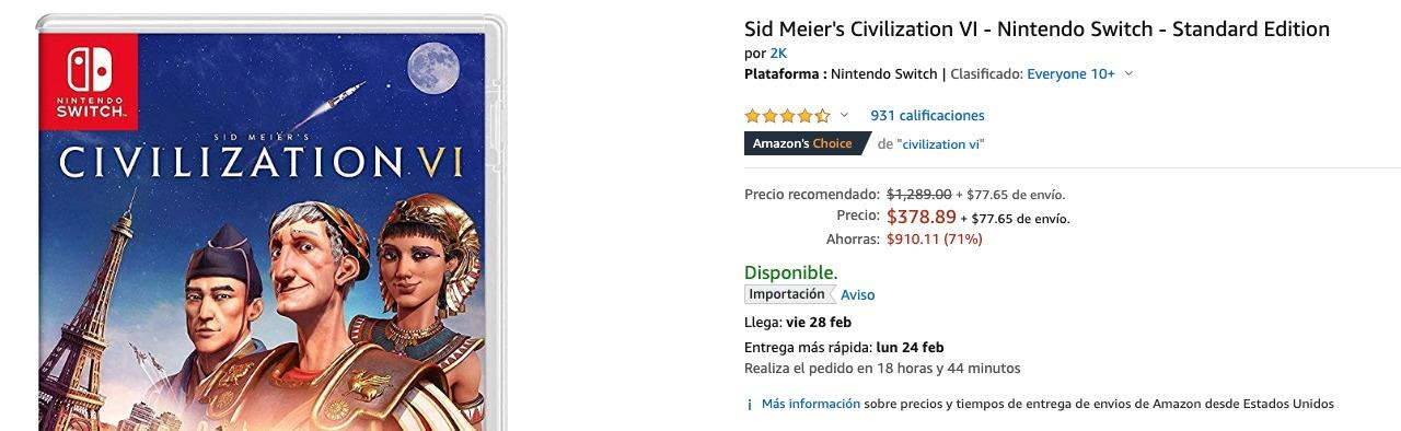 Ofertas PlayStation 4 Xbox One Nintendo Switch