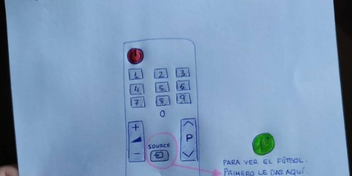 Viral: le simplificó a su abuelo el manejo del control remoto