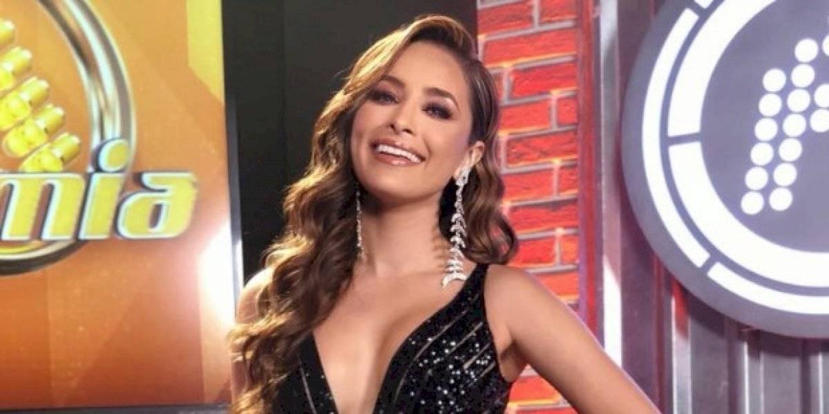 Vestida de princesa, Cynthia Rodríguez se cayó en pleno programa Venga la Alegría