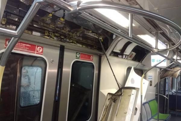 RECIFE - colisão metrô de recife