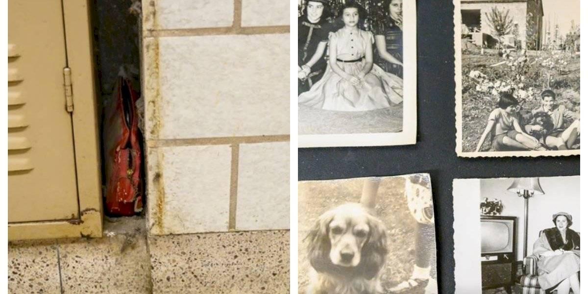 Ahora sus hijos tienen nuevos recuerdos de su madre: perdió el bolso en 1957 y lo encontraron 62 años después cuando ya había fallecido