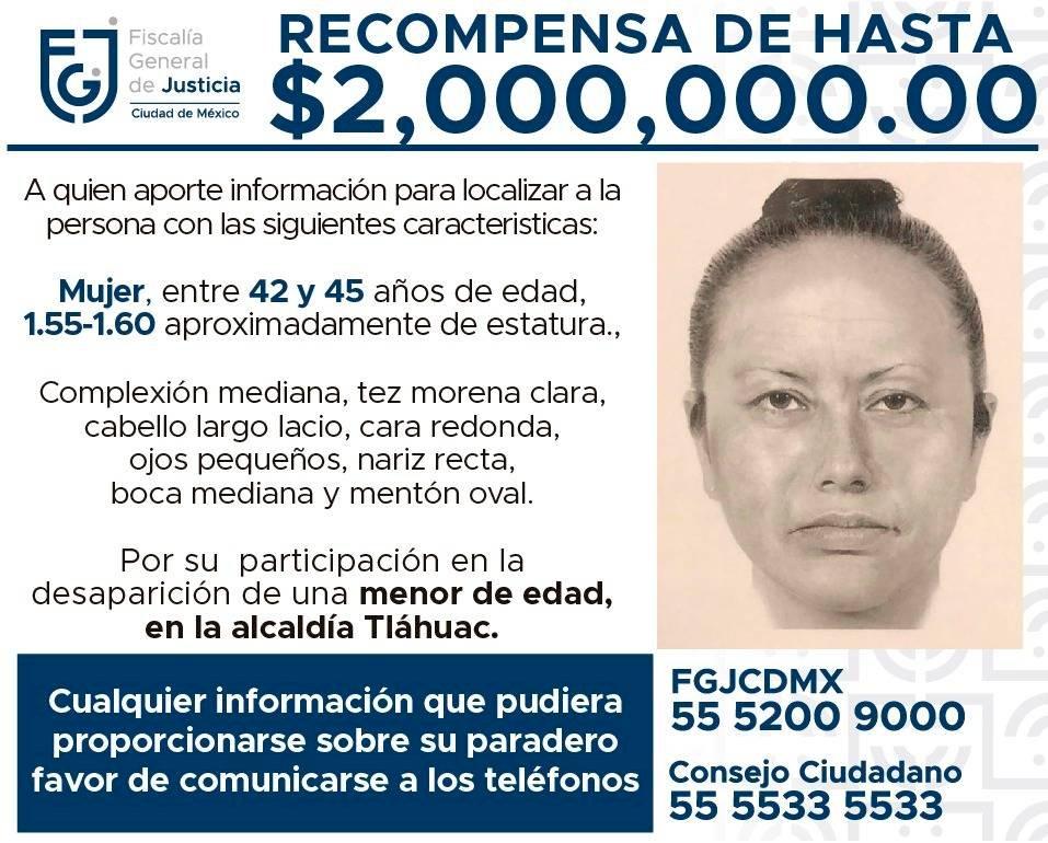 Retrato hablado de la mujer que secuestró a Fátima