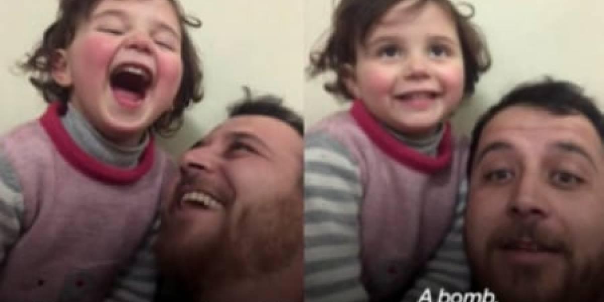 Sírio cria jogo para evitar que filha sinta medo durante bombardeios