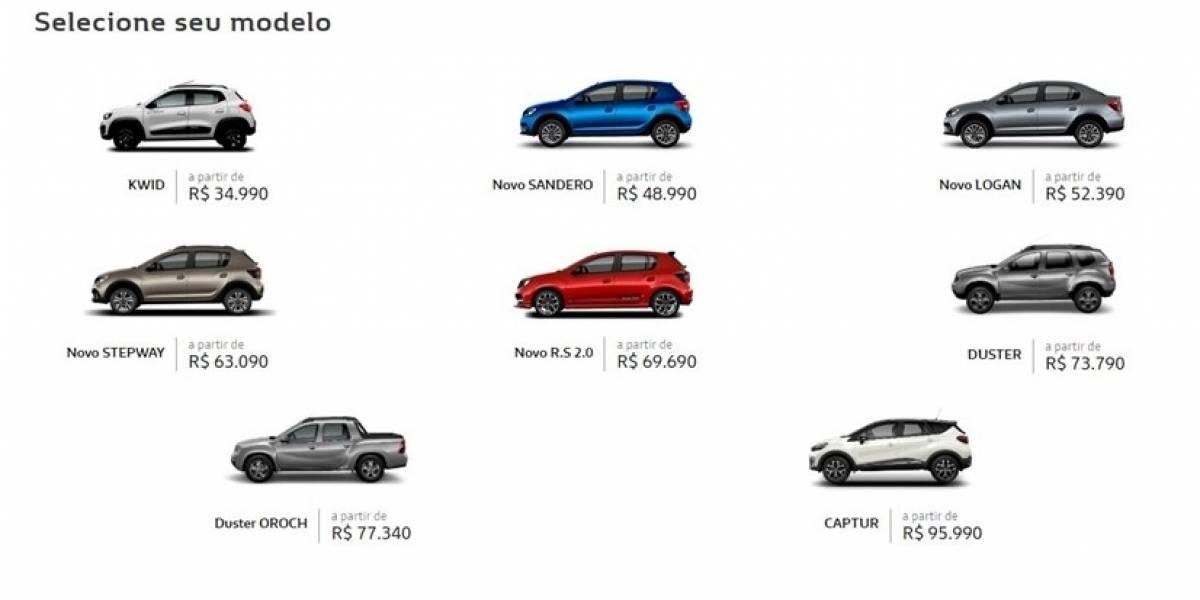 Montadora Renault passa a vender todos os veículos de passeio de forma 100% on-line