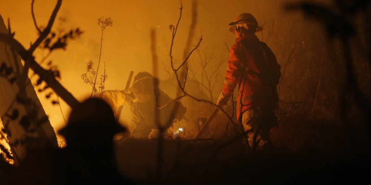 Incendio afectó al cerro San Cristobal durante la madrugada: aún hay una fuerte presencia de humo