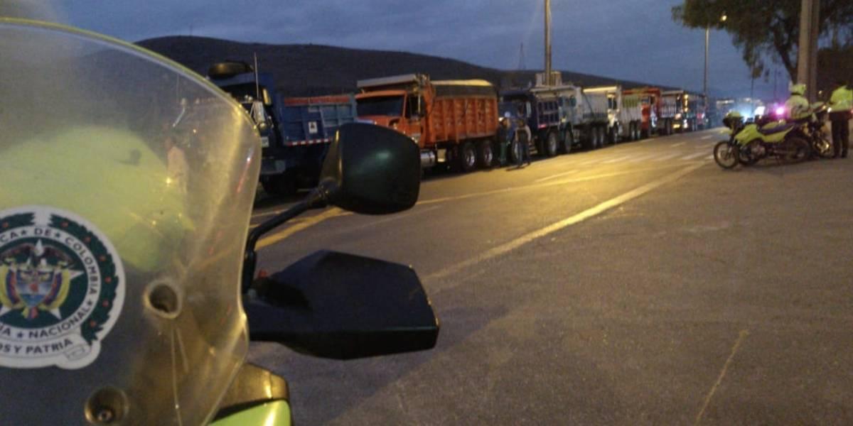 Bogotá amanece con varias concentraciones de camioneros