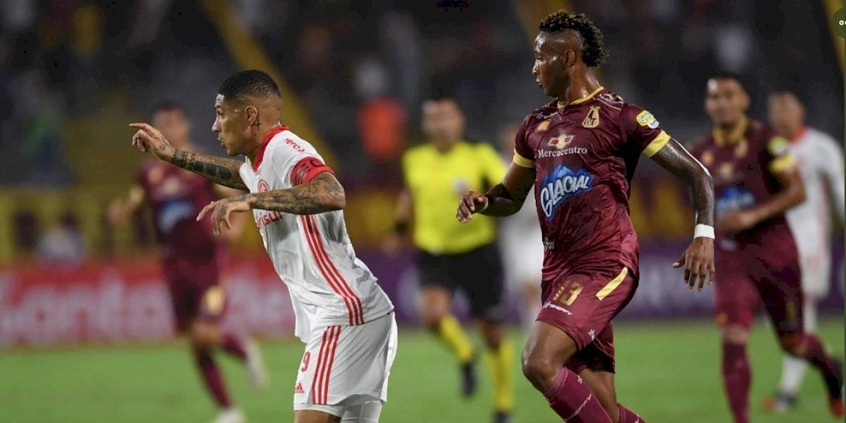 Tolima empató con Inter y le puso puntos suspensivos a la llave de Libertadores