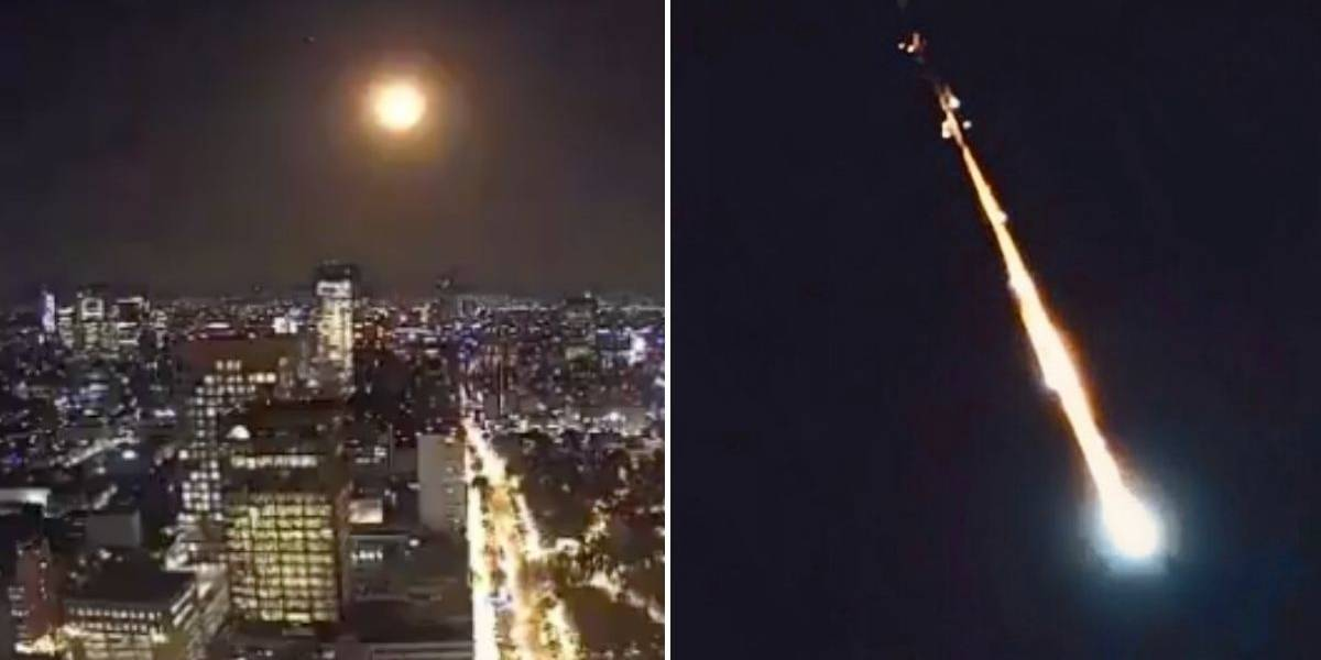 (FOTOS Y VIDEOS) Usuarios en redes reportan caída de un meteorito