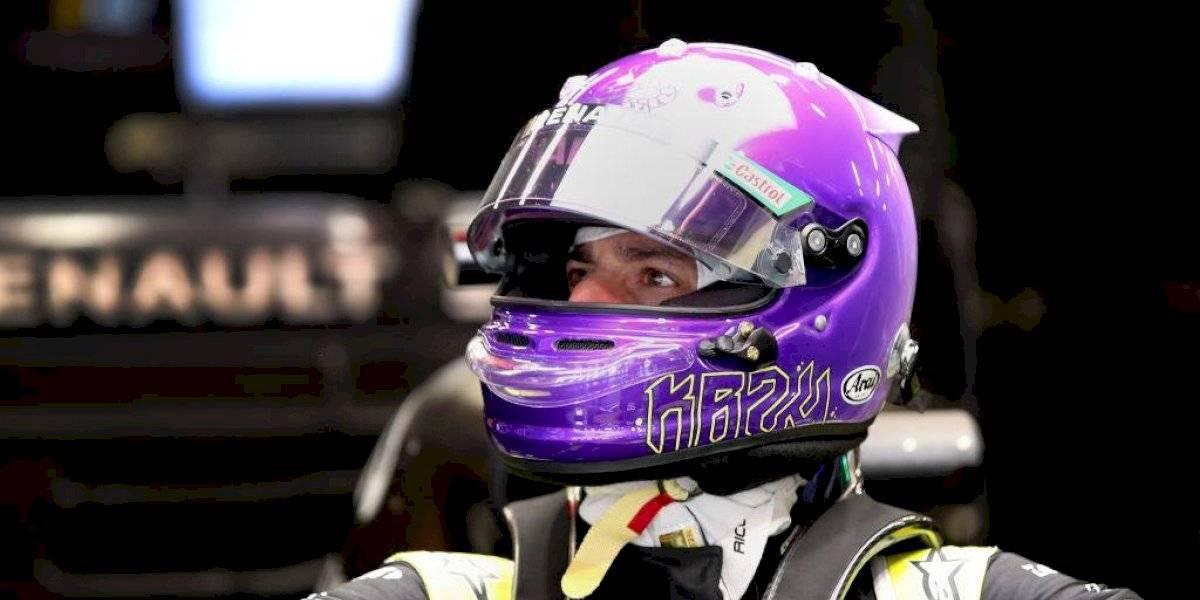 Daniel Ricciardo recuerda a Kobe Bryant en su casco
