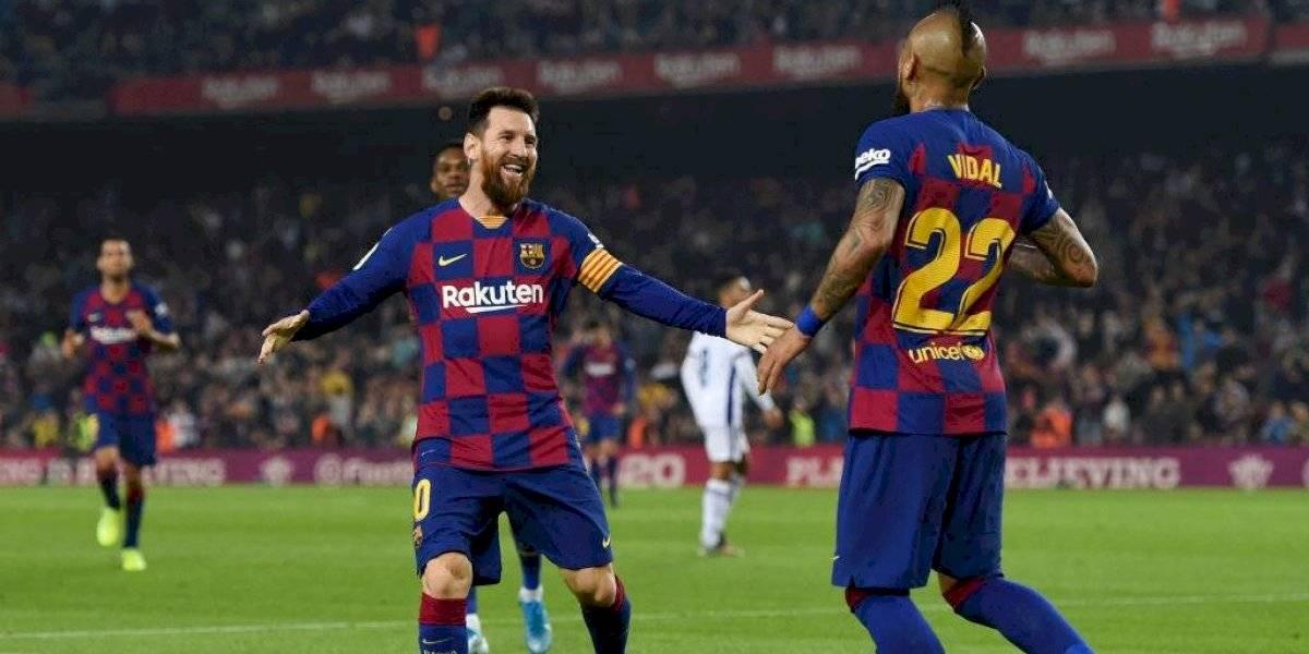 "La ""asistencia"" de Vidal a Messi para una ""chilena-argentina"" que da la vuelta al mundo"