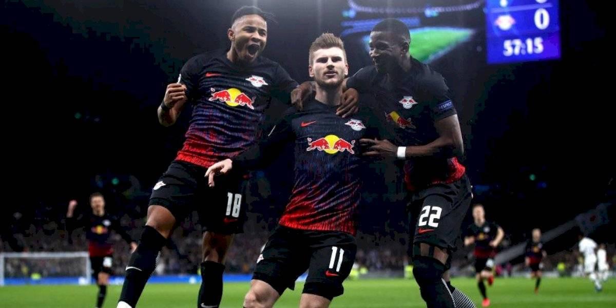 RB Leipzig deja tambaleando al Tottenham en la Champions League