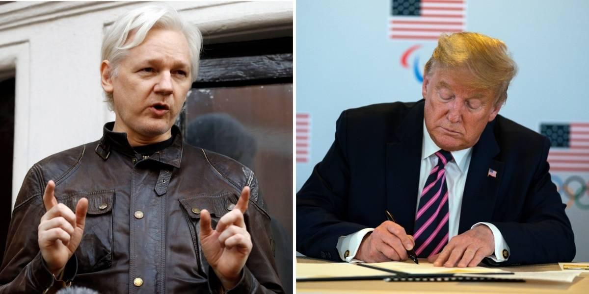 Trump ofreció indulto a Julian Assange aunque Casa Blanca lo niega