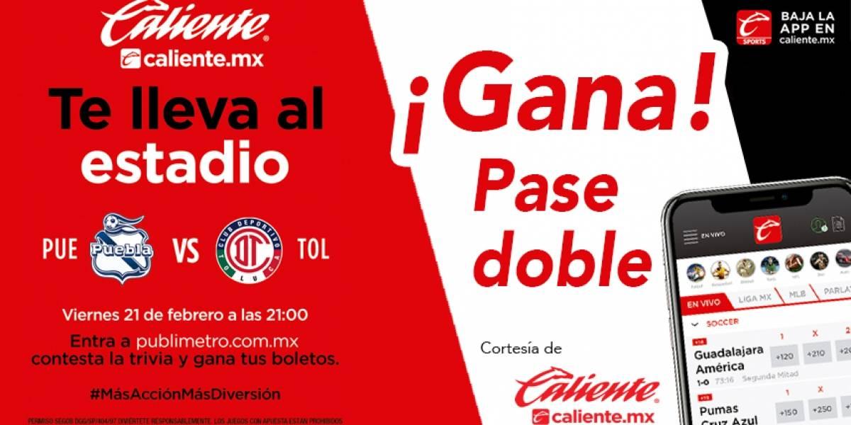 Gana pase doble para el partido Puebla vs Toluca