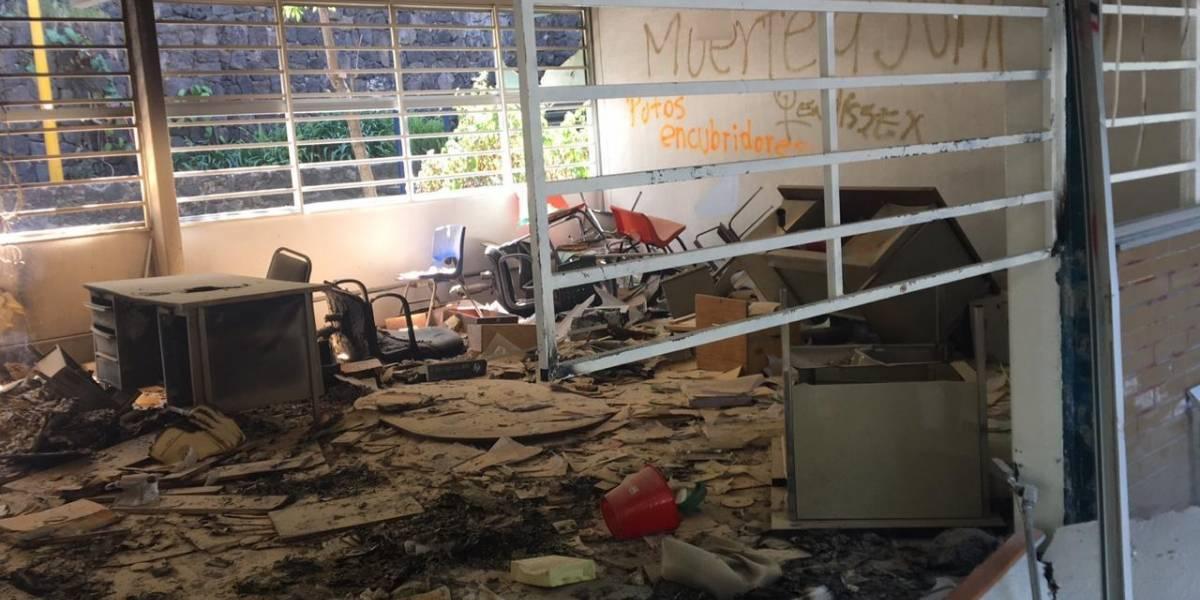 Van 15 días de paro y así lucen los destrozos en el CCH Sur