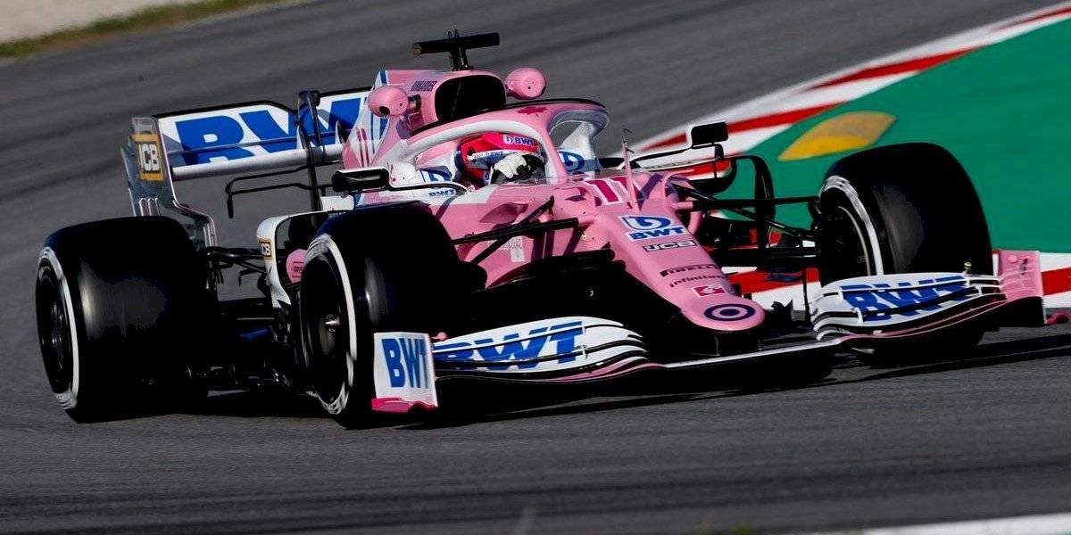 Checo Pérez finaliza segundo en ensayos de F1 en Barcelona