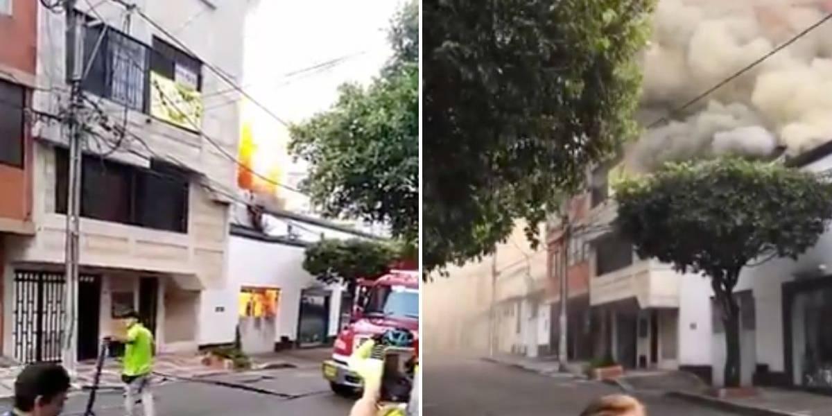 (VIDEO) Incendio en mueblería dejó perdidas por 300 millones de pesos