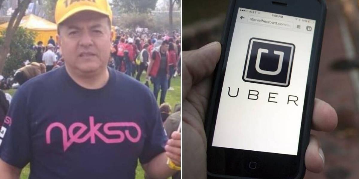 Con rabia, así reaccionó el líder de los taxistas Hugo Ospina al enterarse que Uber volvía a Colombia