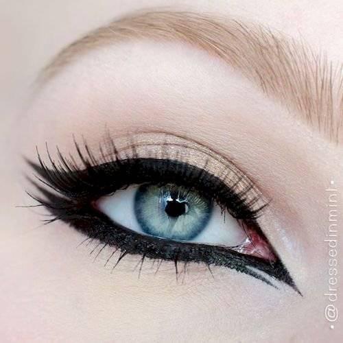 Delineado de ojos doble