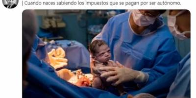 Recién nacida con cara de enojo se hace meme en las redes sociales