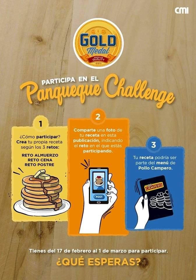 Gold Medal y Pollo Campero panqueque Challenge