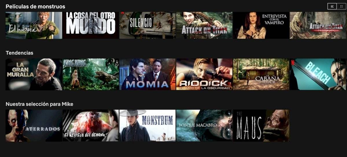 Netflix códigos secretos
