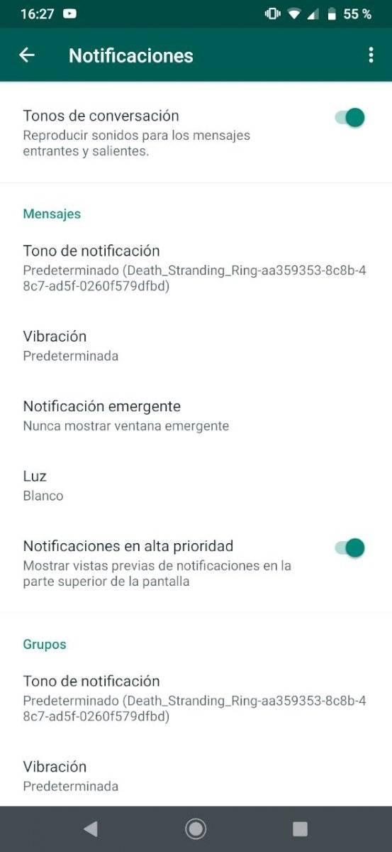 WhatsApp tonos
