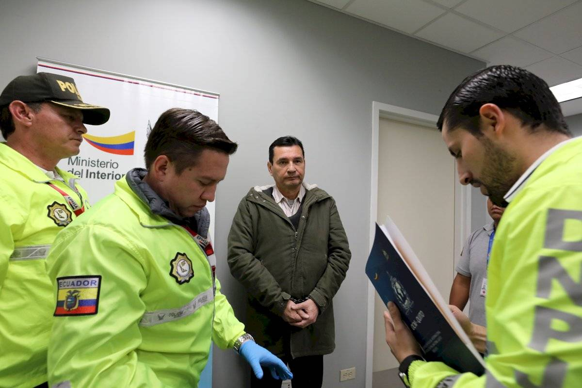 Pablo Romero, exjefe de Inteligencia de Correa llegó a Ecuador extraditado desde España