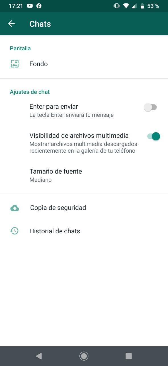 WhatsApp galería