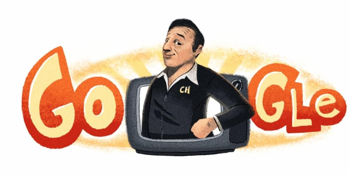 Google libera doodle inédito para comemorar nascimento do criador de 'Chaves'