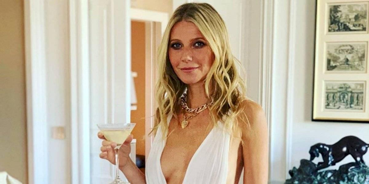 Gwyneth Paltrow vuelve tendencia asistir a las fiestas sin una gota de maquillaje