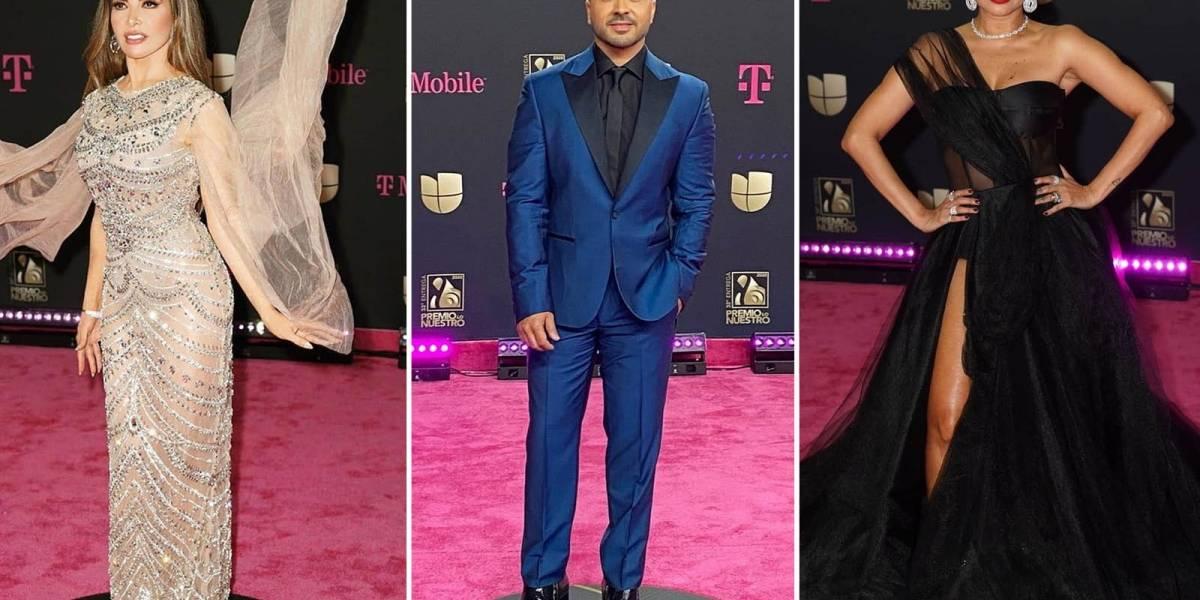 Entre brillantes, cristales y elegancia: Los mejores vestidos de la alfombra magenta de Premio Lo Nuestro 2020