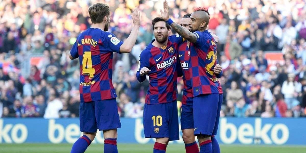 De la mano de Messi, el Barcelona de Vidal pasea al Eibar de Orellana