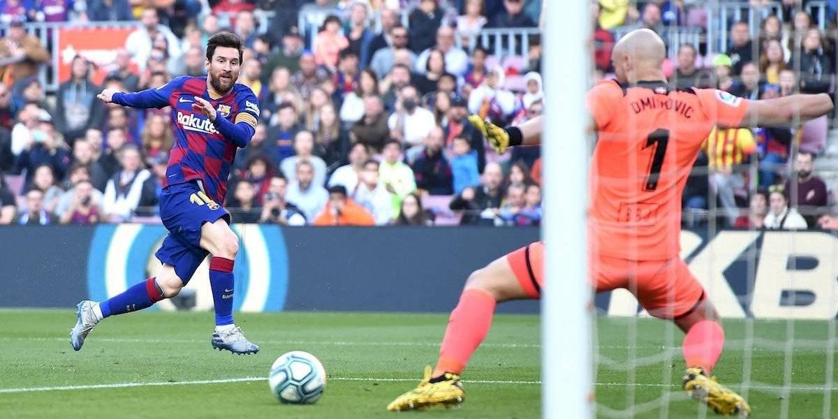 Con Póker de Messi, el Barcelona golea al Eibar en La Liga