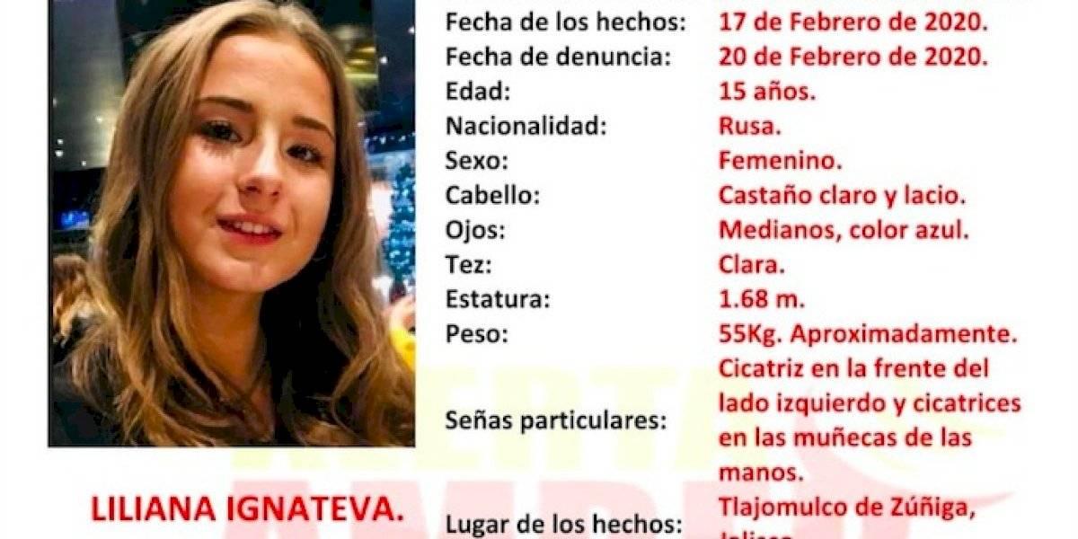 Desaparece en Jalisco Liliana Ignateva, adolescente de nacionalidad rusa