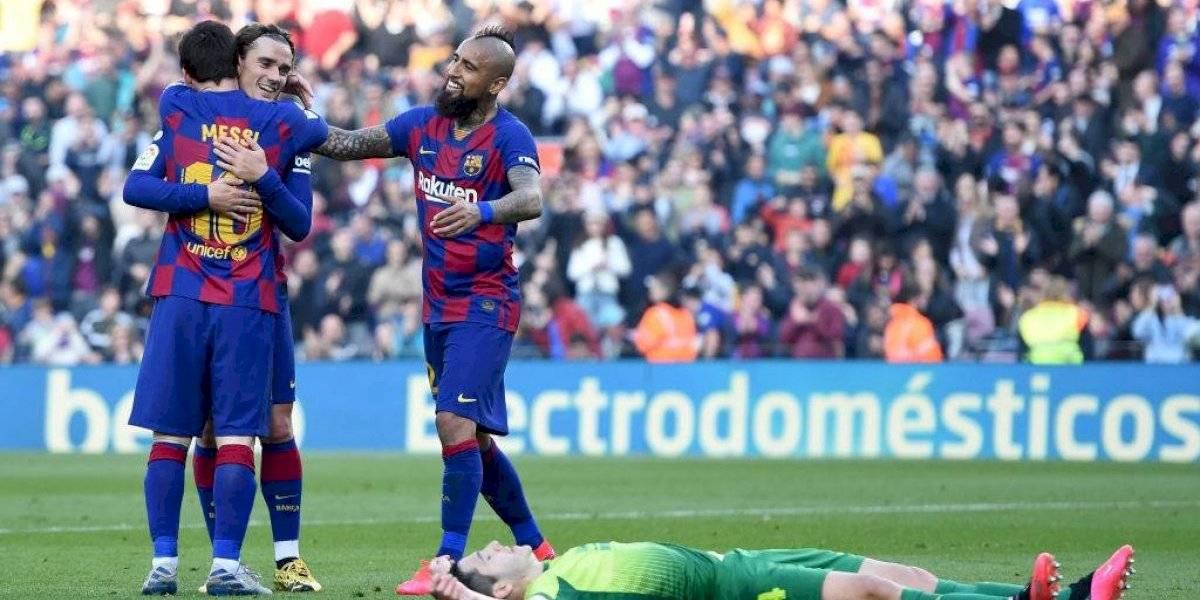 "Prensa española destacó a Vidal en goleada del Barcelona: ""Pongan donde lo pongan, termina cumpliendo"""