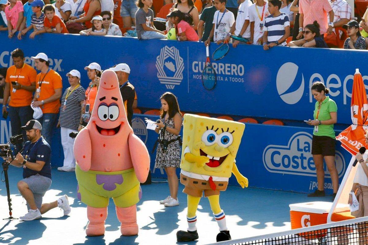 Bob Esponja y Patricio fueron las principales atracciones de este domingo Cortesía Mextenis