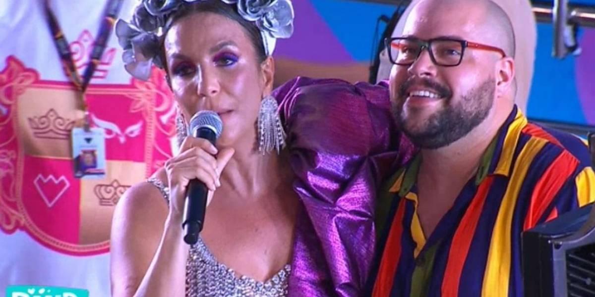 Veveta cupido: Tiago Abravanel conta que conheceu marido no trio da baiana